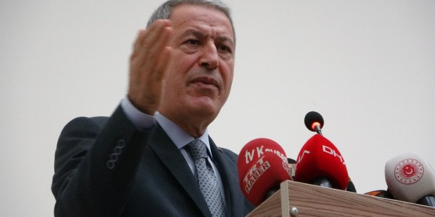"""Milli Savunma Bakanı Akar: """"TSK olarak normalin dışında güç kullanmamız asla söz konusu değildir"""""""