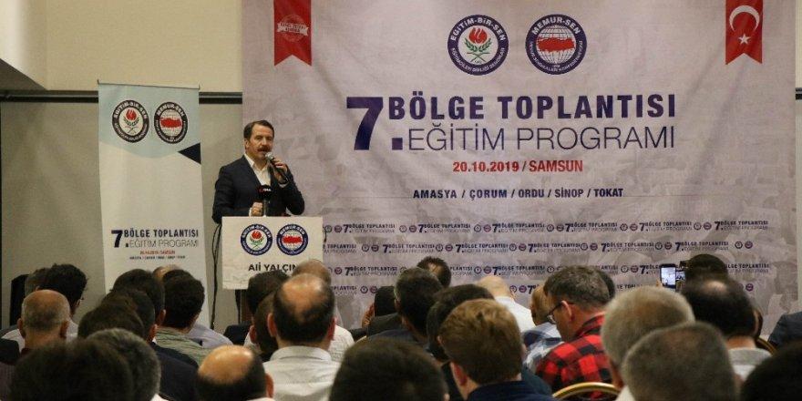 Memur Sen Genel Başkanı Yalçın, Samsun'da konuştu