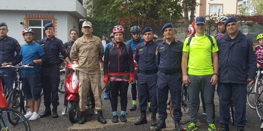 Barış Pınarı Harekatına destek için pedal çevirdiler