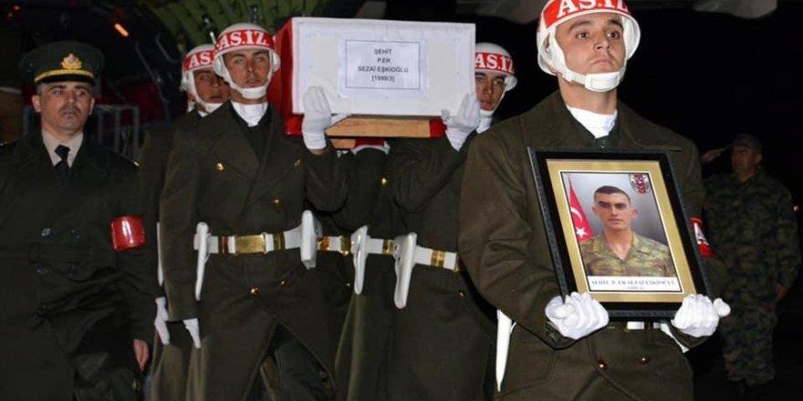 Şehit Eşkioğlu'nun cenazesi Erzurum'a getirildi