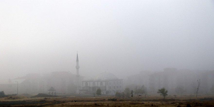 Erzincan'ı sis sardı