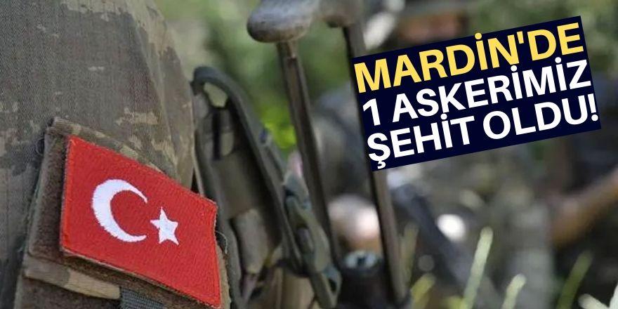 Mardin Derik'te sıcak çatışma: 1 askerimiz şehit oldu
