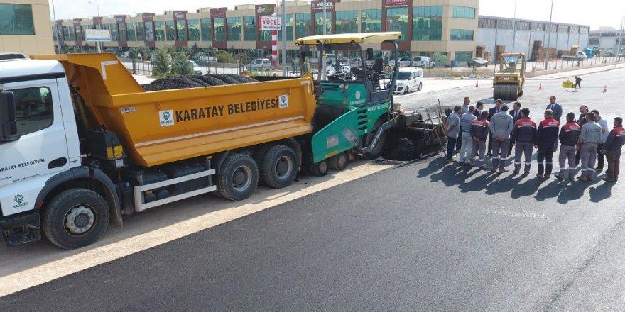 Karatay'da asfaltlama çalışmaları sürüyor