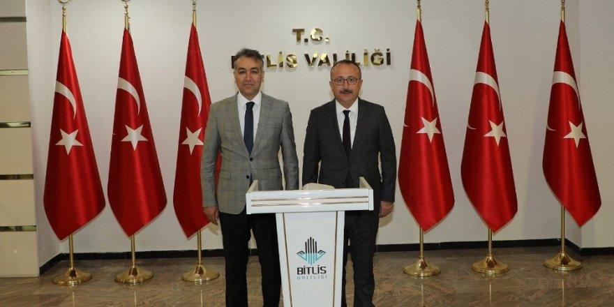 Siirt Valisi Atik, Vali Oktay Çağatay'ı ziyaret etti