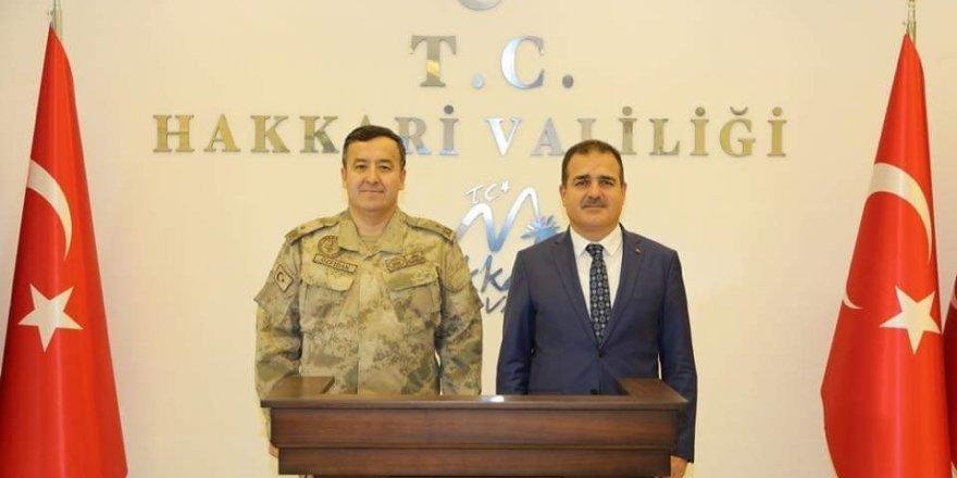 TEM Daire Başkanı Tuğgeneral Özfidan, Hakkari Valisi Akbuyık'ı ziyaret etti