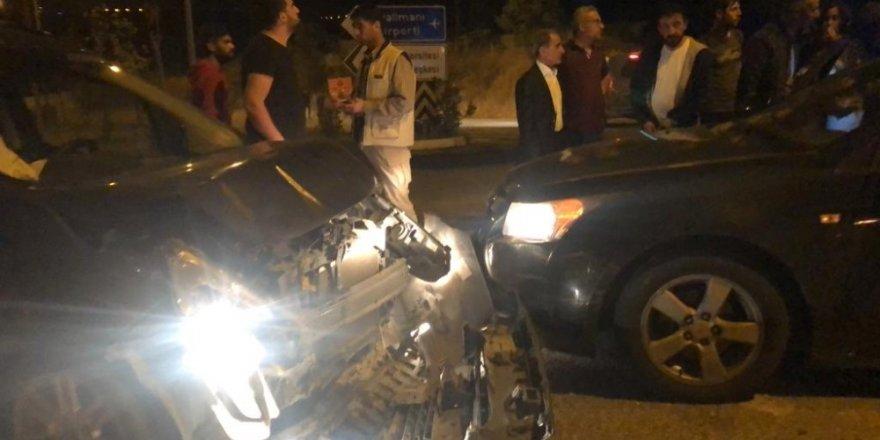 Siirt'te iki araç çarpıştı: 4 yaralı