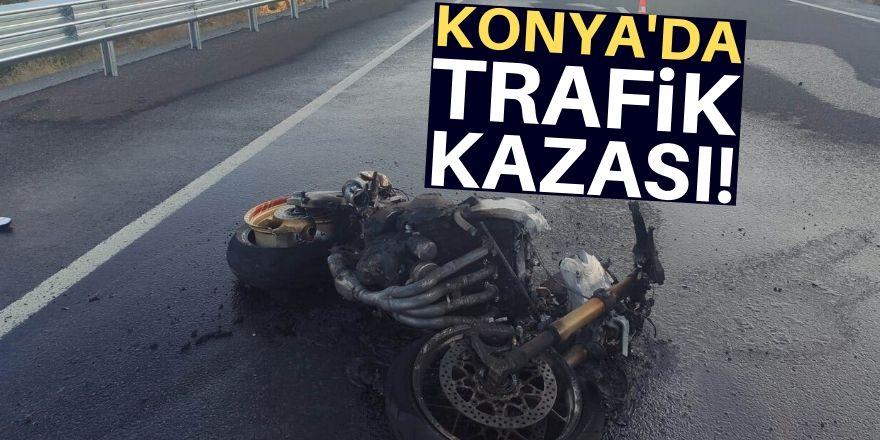 Konya'da motosiklet kazası: 1 ölü, 1 yaralı