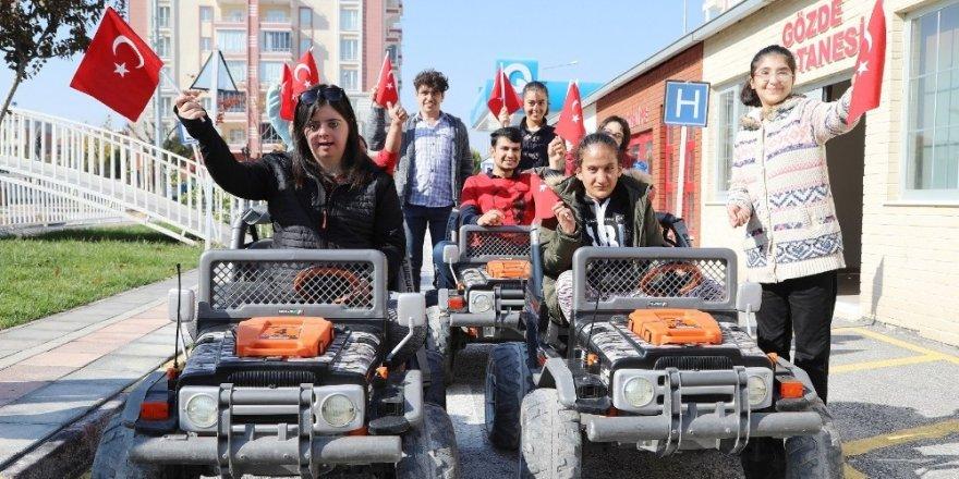 Battalgazi trafik parkı özel çocuklarla şenlendi