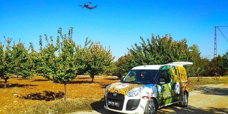 Tarım arazileri dron ile  takip ediliyor