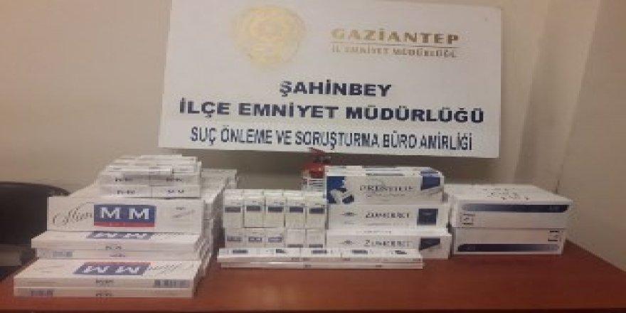 Gaziantep'te 665 paket kaçak sigara ele geçirildi