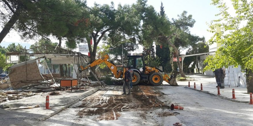 Menteşe Belediyesi'nden Hastane Tadilatına Destek