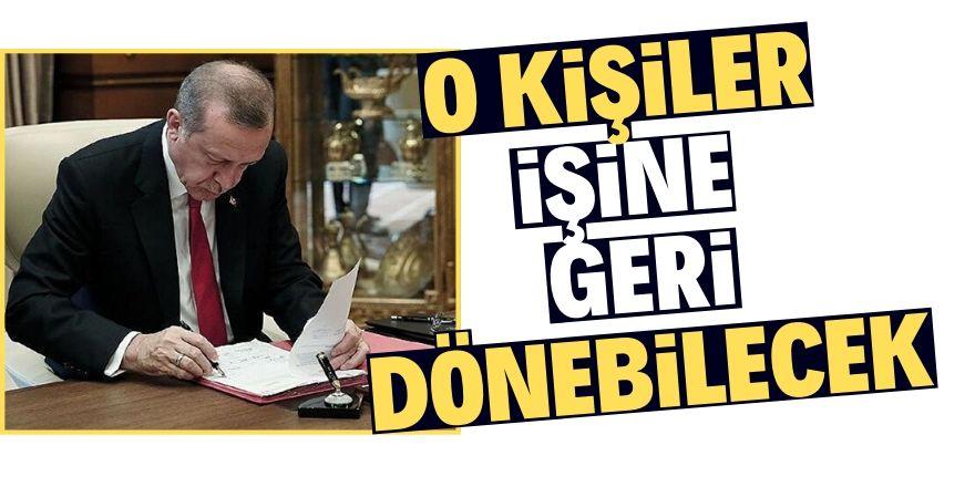 Erdoğan imzaladı!