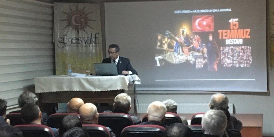 """Prof. Dr. Ahmet Beşe, Güneş Vakfı'nda """"Türk-Amerikan İlişkileri ve günümüze yansımaları""""nı anlattı"""