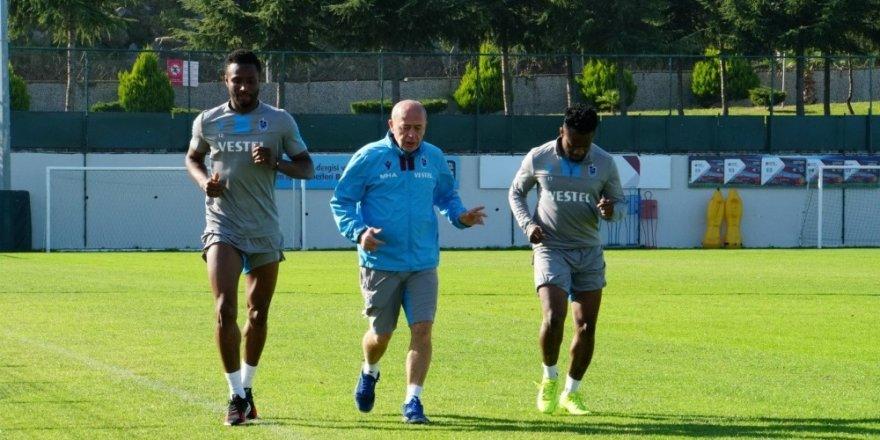 Trabzonspor'da Obi Mikel, Onazi ve Ekuban özel çalıştı