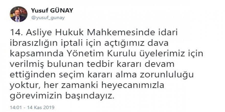 """Yusuf Günay: """"Her zamanki heyecanımızla görevimizin başındayız"""""""