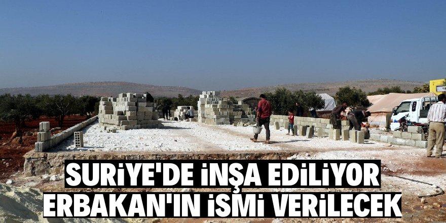 Suriye'de inşa ediliyor