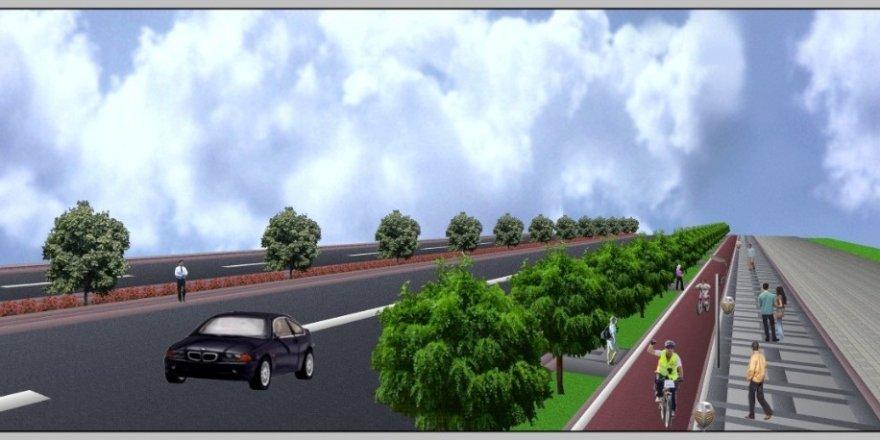 """Aksaray'da """"Akıllı bisiklet yolu projesi"""" hayata geçiyor"""