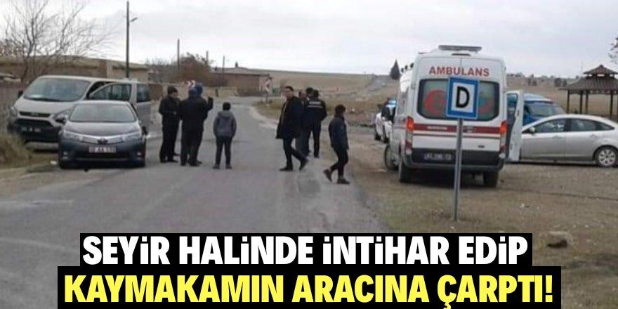 Konya'da seyir halinde kendini vurdu!