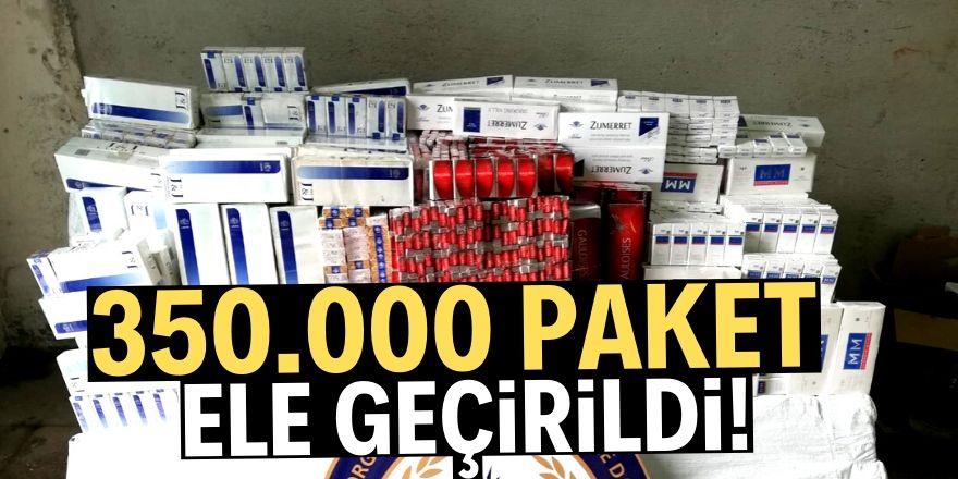 350 bin paket kaçak sigara ele geçirildi!