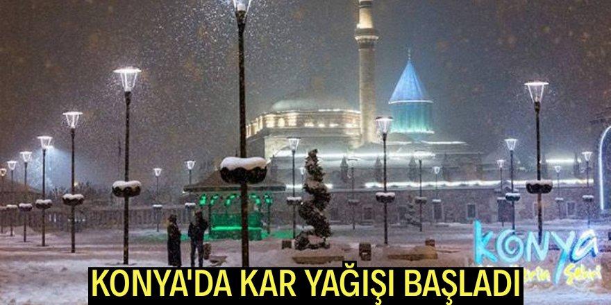 Konya'da kar yağışı başladı