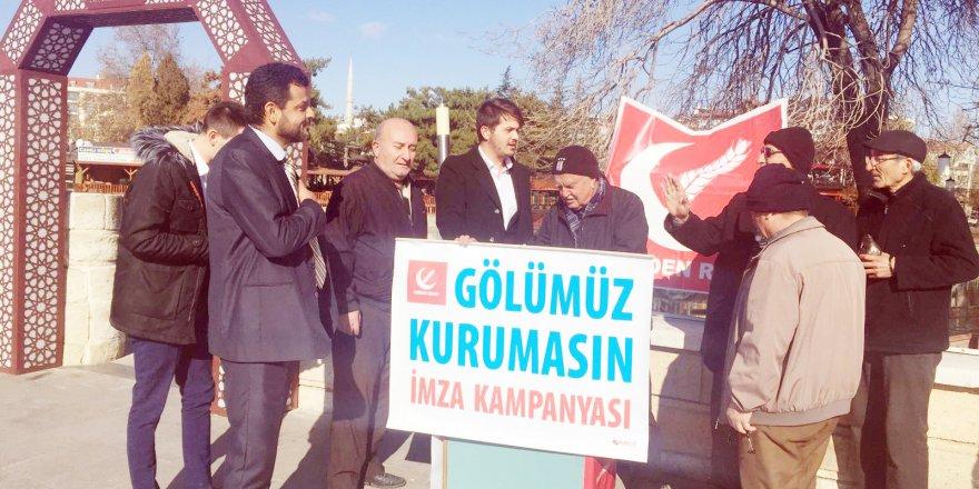 Beyşehir Gölü için imza kampanyası