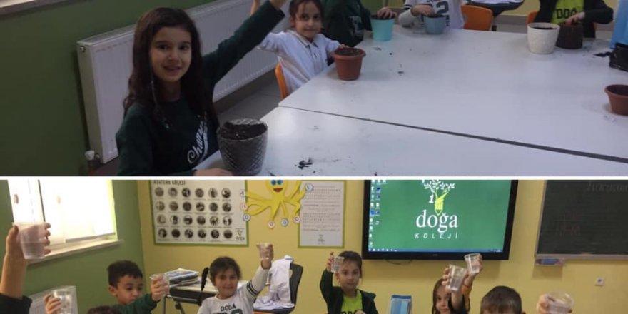Doğa Koleji öğrencileri  tohumları toprakla buluşturdu