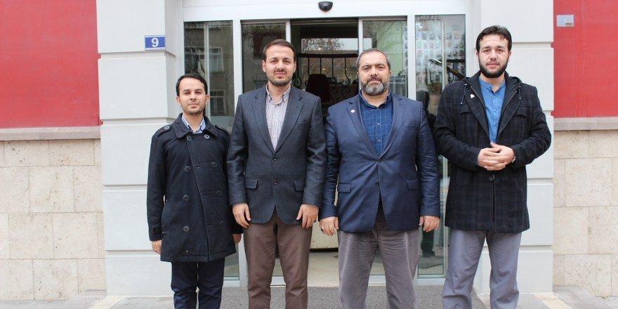 AGD Konya Teşkilatından  Merhaba Gazetesi'ne ziyaret