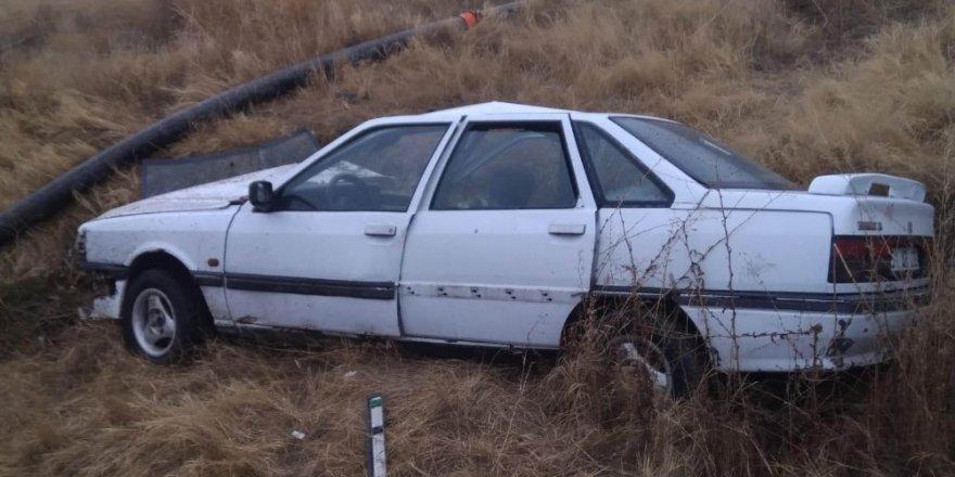 Aksaray'da otomobil devrildi: 2 yaralı
