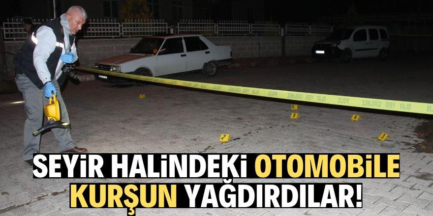 Konya'da arabaya kurşun yağdırdılar!