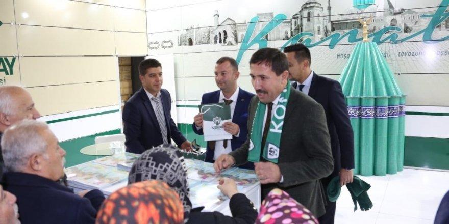 """Karatay Belediyesinin """"Konya Tanıtım Günleri"""" standına büyük ilgi"""