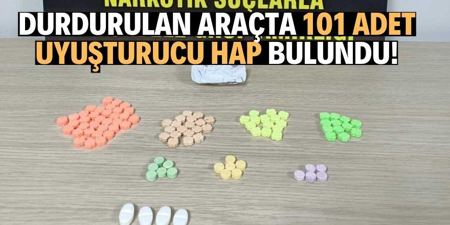 Konya'da durdurulan araçtan uyuşturucu çıktı