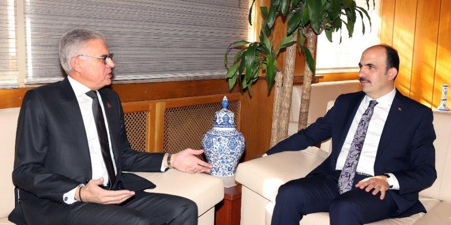 Fas Büyükelçisi Lazreq, Başkan Altay'ı ziyaret etti