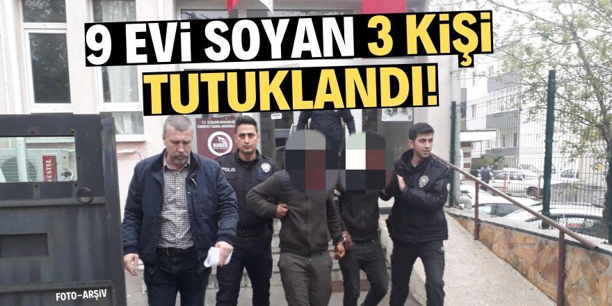 Konya'da hırsızlık yapan 3 zanlı tutuklandı