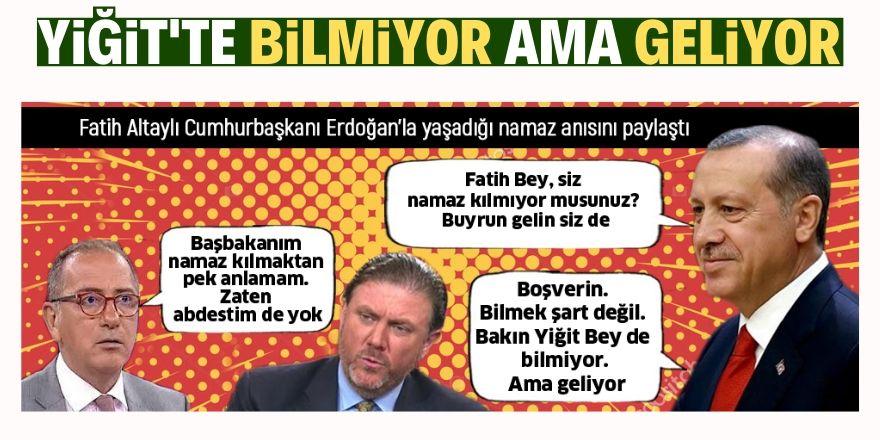 Erdoğan'la yaşadığı namaz anısını paylaştı