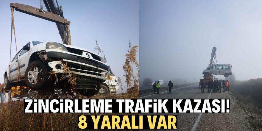Beyşehir'de zincirleme trafik kazası: 8 yaralı