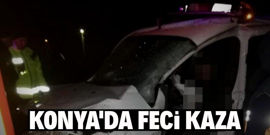 Konya'da feci kaza: 2 ölü!