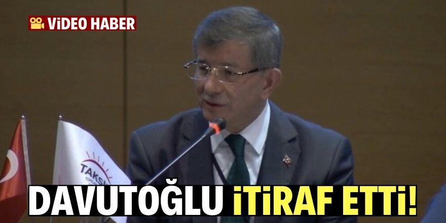 Ahmet Davutoğlu'ndan referandum itirafı