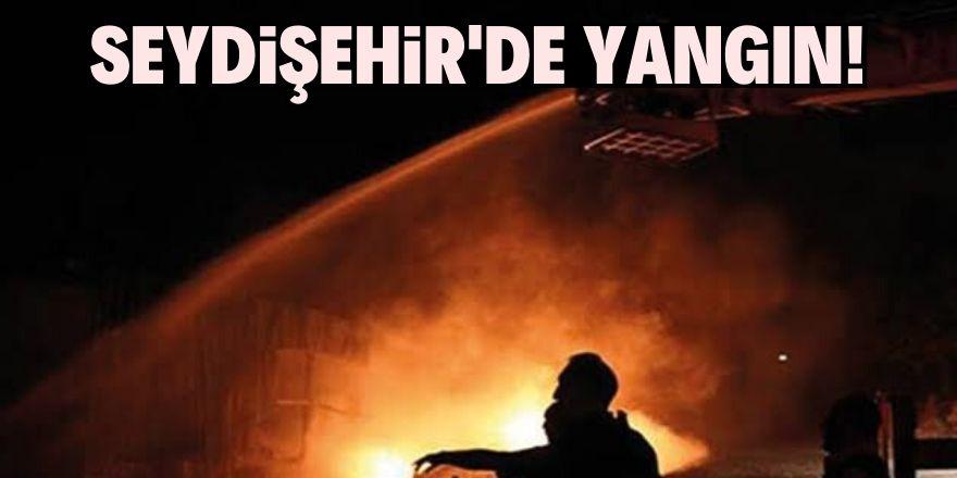 Seydişehir'de iş yerinde yangın