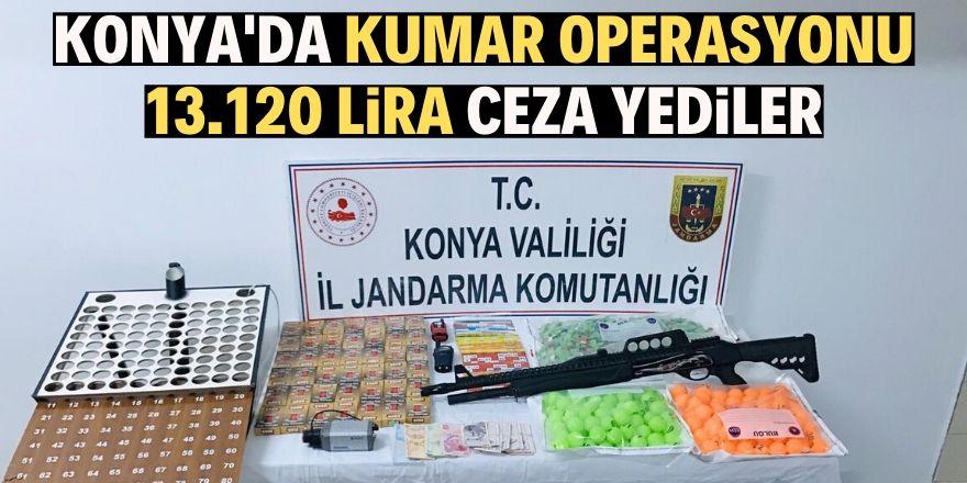 Konya'da jandarmadan kumar operasyonu: 2 gözaltı