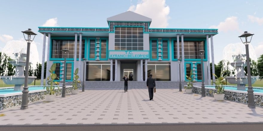 Ayrancı'ya modern belediye binası yapılıyor