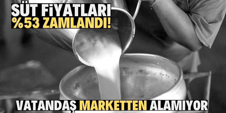 Süt fiyatlarında aşırı yükseliş!