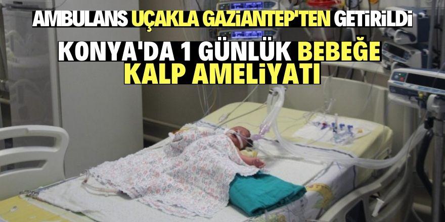 Konya'da 1 günlük bebeğe kalp ameliyatı