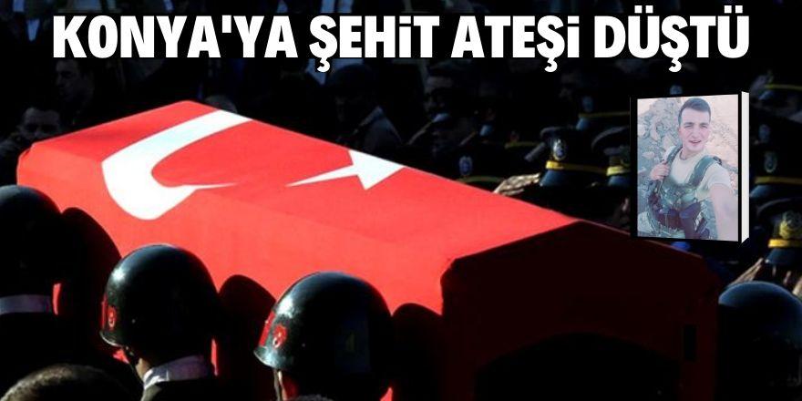 Konya'ya şehit ateşi düştü!