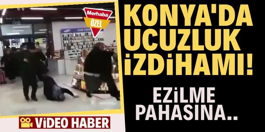 Konya'da alışveriş izdihamı!