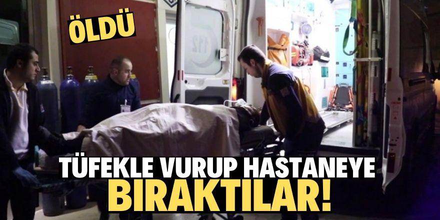 Tüfekle vurup hastaneye bıraktılar!