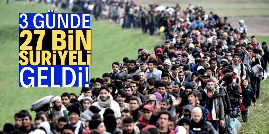 27 bin sivil Türkiye sınırına geldi!