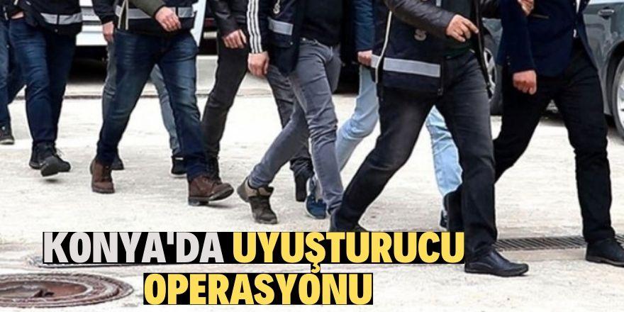 Konya'da uyuşturucu operasyonunda 6 kişi gözaltına alındı