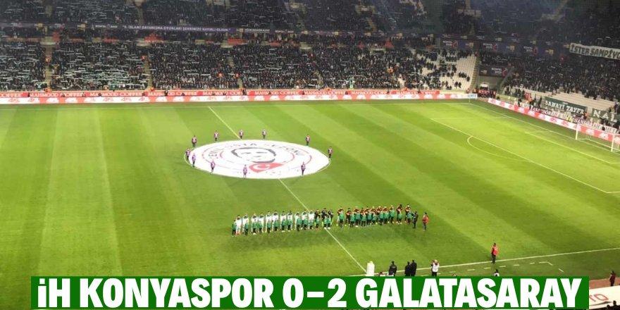 Süper Lig: Konyaspor: 0 - Galatasaray: 2 (İlk yarı)