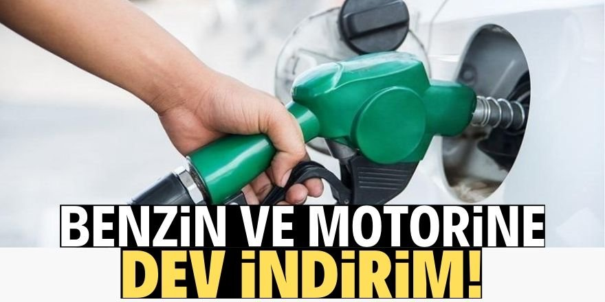 Benzin ve motorin fiyatlarına büyük indirim geliyor!
