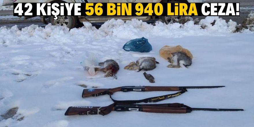 Kaçak ve usulsüz avlanmaya 56 bin 940 lira ceza